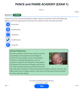 PANCE AND PANRE EXAM ACADEMY EXAM 1 EMAIL SERIES REVIEW QUESTIONS