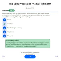 Daily PANCE and PANRE Final Exam