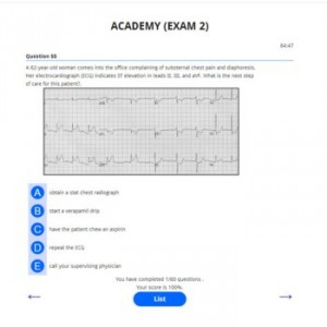 PANCE AND PANRE ACADEMY EXAM 2 EKG 350P
