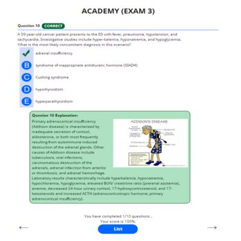 PANCE AND PANRE ACADEMY ONLINE PRACTICE EXAM 3