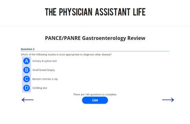 PANCE and PANRE Gastroenterology Blueprint Topic Specific Exam