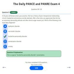 The Daily PANCE and PANRE 4 250p