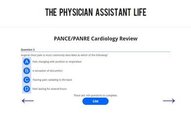 PANCE and PANRE Cardiology Blueprint Topic Specific Exam