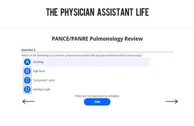 PANCE and PANRE Pulmonology Blueprint Topic Specific Exam