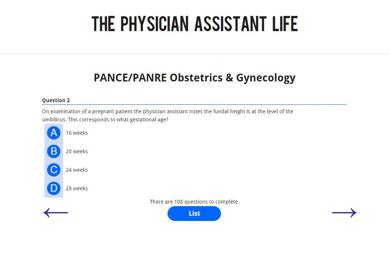 PANCE and PANRE OBGYN Obstetrics and Gynecology Blueprint Topic Specific Exam