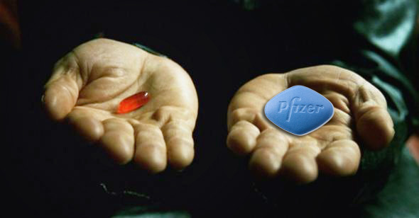 Red pill Blue Pill Phizer