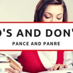 The  DO'S and DON'TS of the PANCE and PANRE Examination