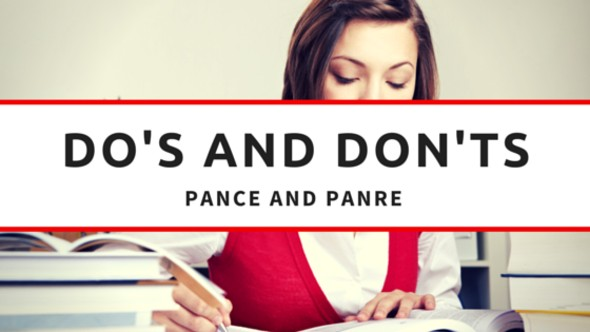 The Do's and Don'ts of the PANCE and PANRE