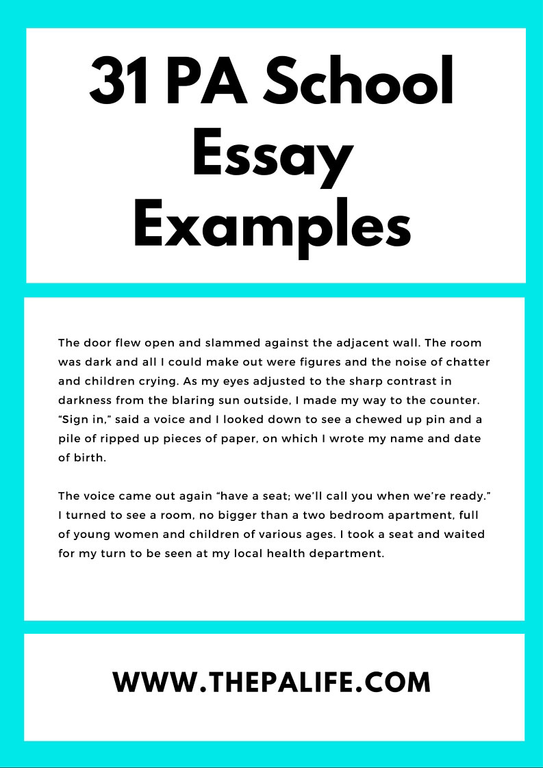 pa school admissions essays the book the physician  31 personal statement examples