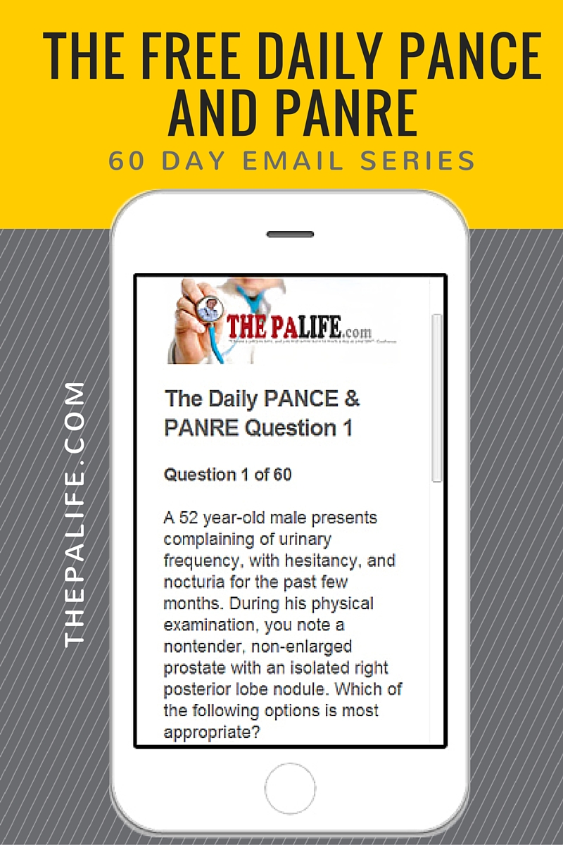 free pance and panre board review email series