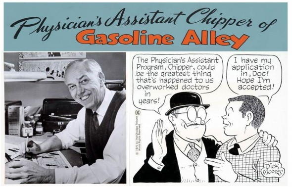 Gasoline Alley Collage Promotes Physician Assistants