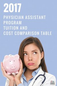 2017 Physician Assistant Tuition and Cost Comparison Table