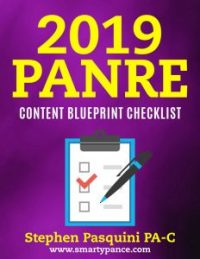 The PANCE and PANRE Content Blueprint Checklist | Study Guide | The