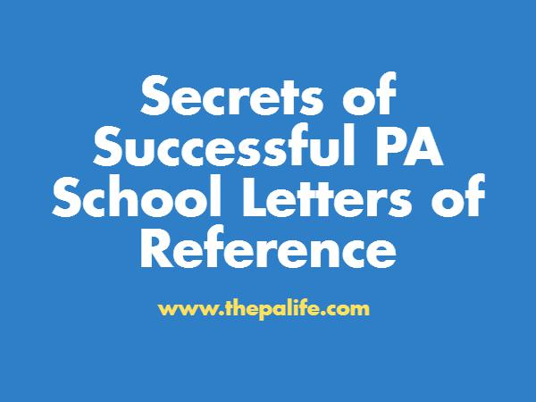 Secrets of Successful PA School Reference Letters