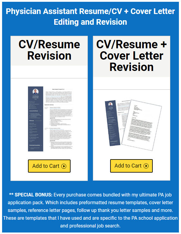 Resume And Cv Editing Service For Physician Assistants  The