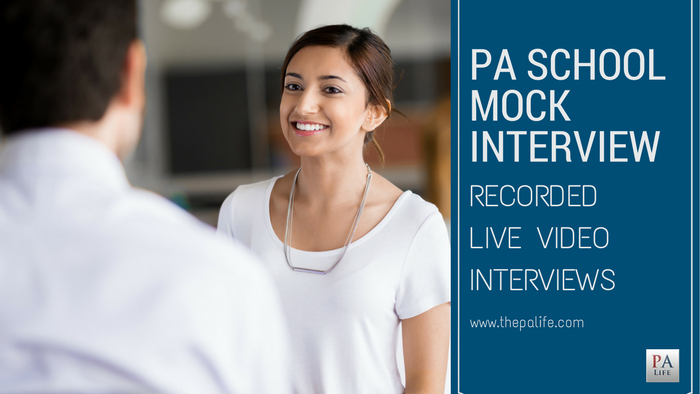 PA School Mock Recorded Video Interview