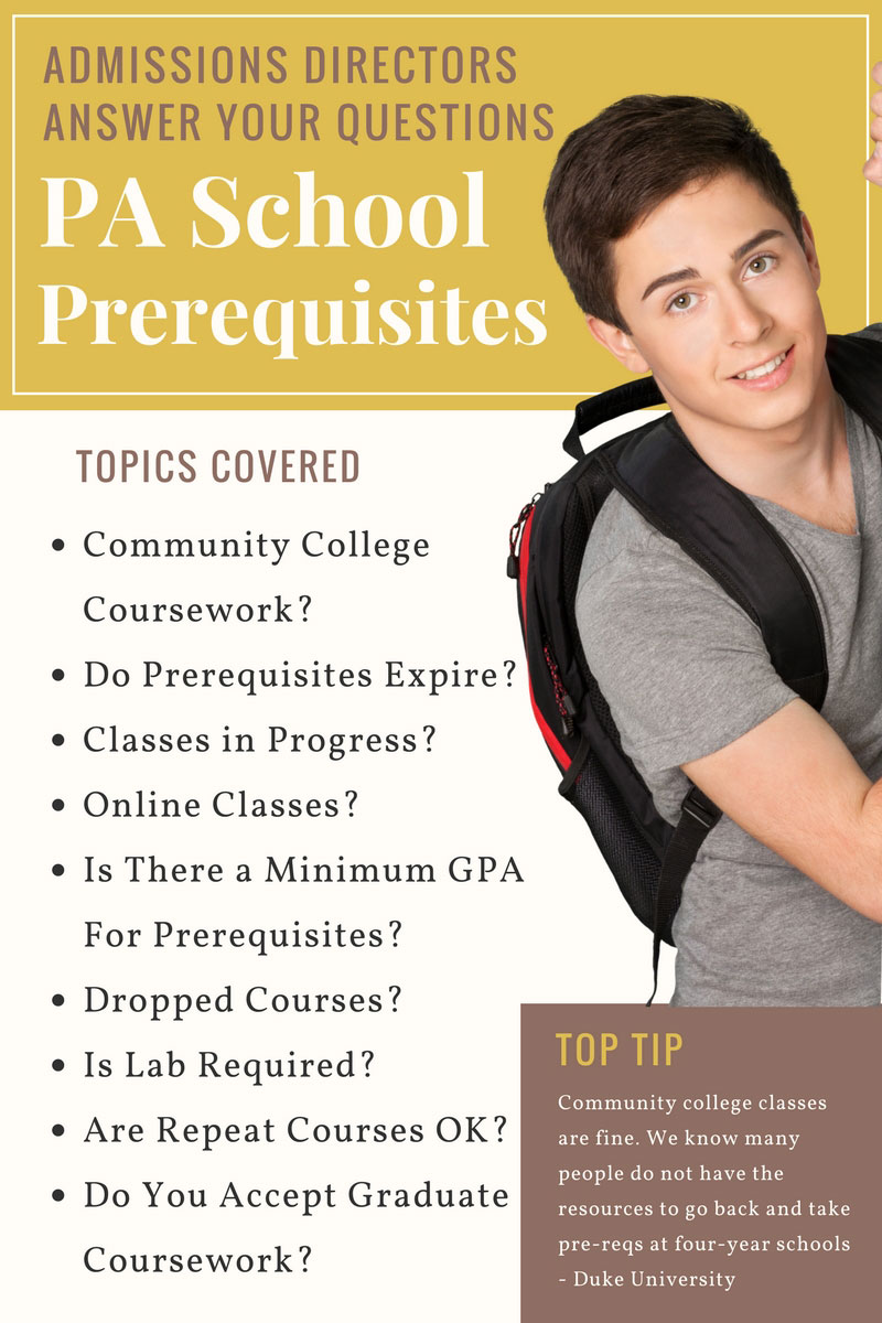 PA School Prerequisites: Admissions Directors Answer Your Burning ...