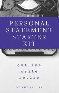 PA PERSONAL STATEMENT STARTER KIT