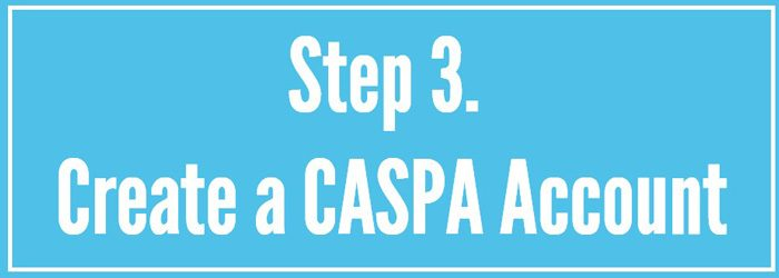 Create a CASPA Account Today