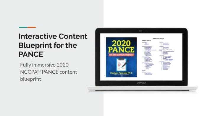 2020 Interactive NCCPA PANCE Content Blueprint