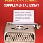 How to Write the Perfect PA School Supplemental Essay