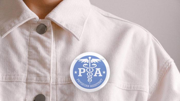 I'm a PA wearing a button