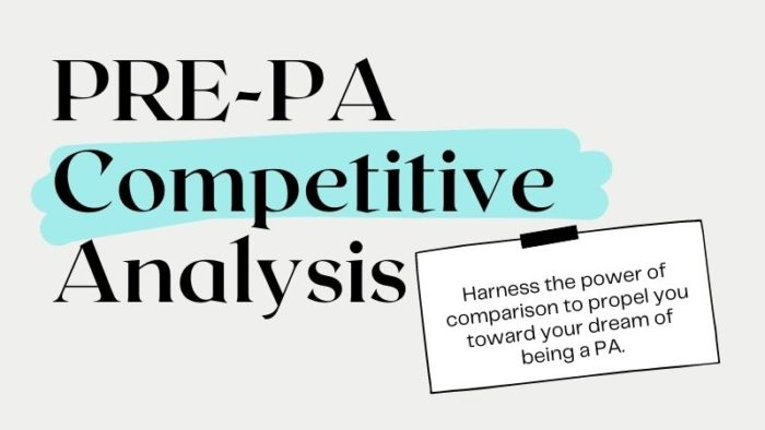 PRE-PA Competitive Analysis