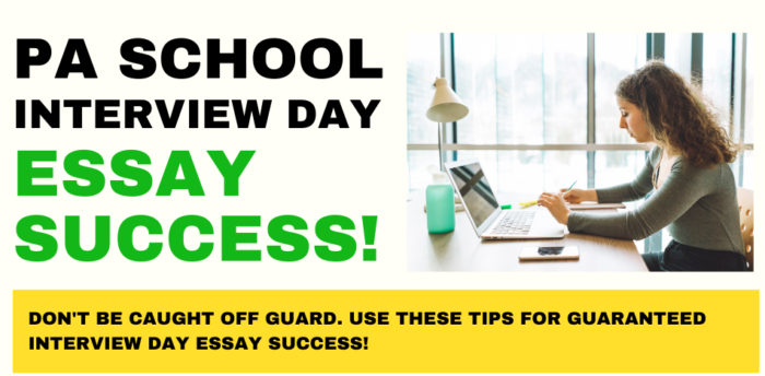 How to Prepare for the Physician Assistant School Interview Day Essay Prompt
