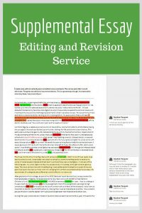 Supplemental Essay Editing and Revision Physician Assistant
